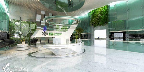 desain kantor PGN medan - Vector 41 arsitek interior