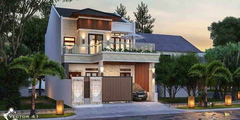 Aplikasi Desain Rumah Minimalis Gratis  desain rumah tropis tropical house vector 41 arsitek medan