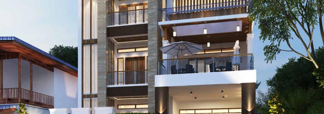Gambar Desain Rumah Minimalis Yg Bagus  desain rumah tropis model rumah tropis terbaru vector 41