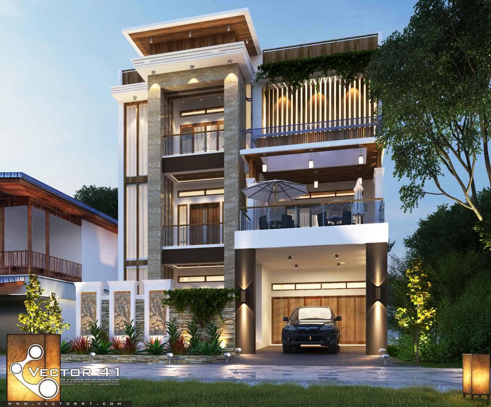 Desain Rumah 3 lantai Mr Fitri MEDAN