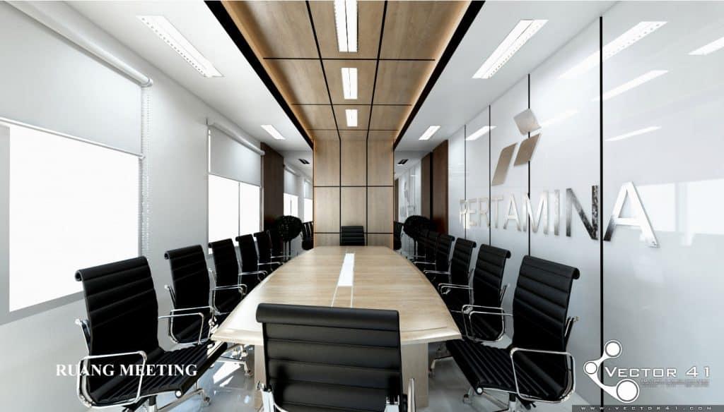 Desain interior ruang rapat kantor PT pertamina Medan