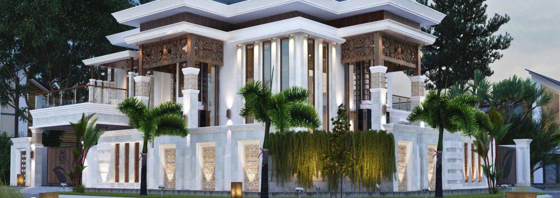 Desain rumah mewah jasa arsitek medan - rumah tropis vector 41 - bapak firman 003