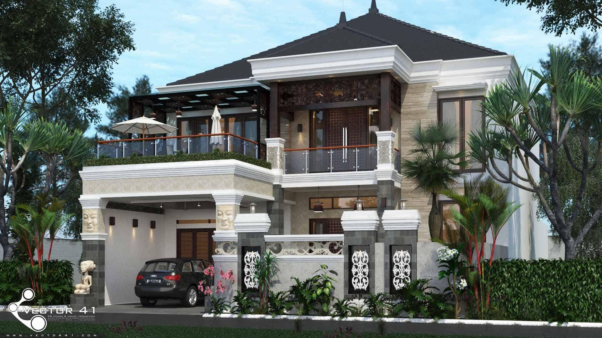 Desain Rumah Tropis Mrs Imelda Medan