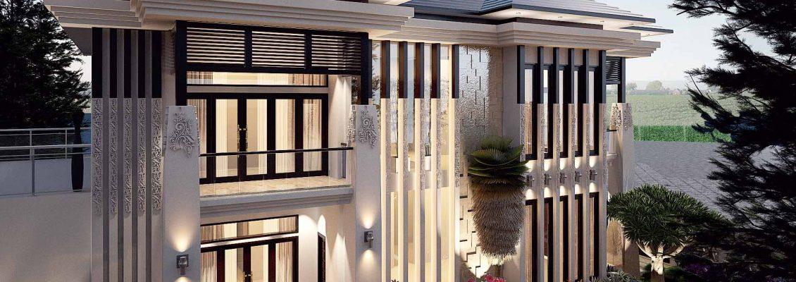Desain rumah tropis medan - vector 41 medan 002
