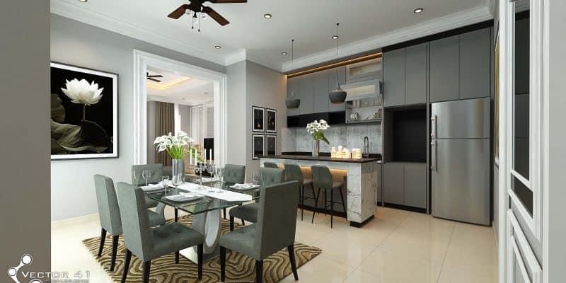 Desain Interior Rumah Mewah 1 Lantai  desain interior model interior terbaru vector 41