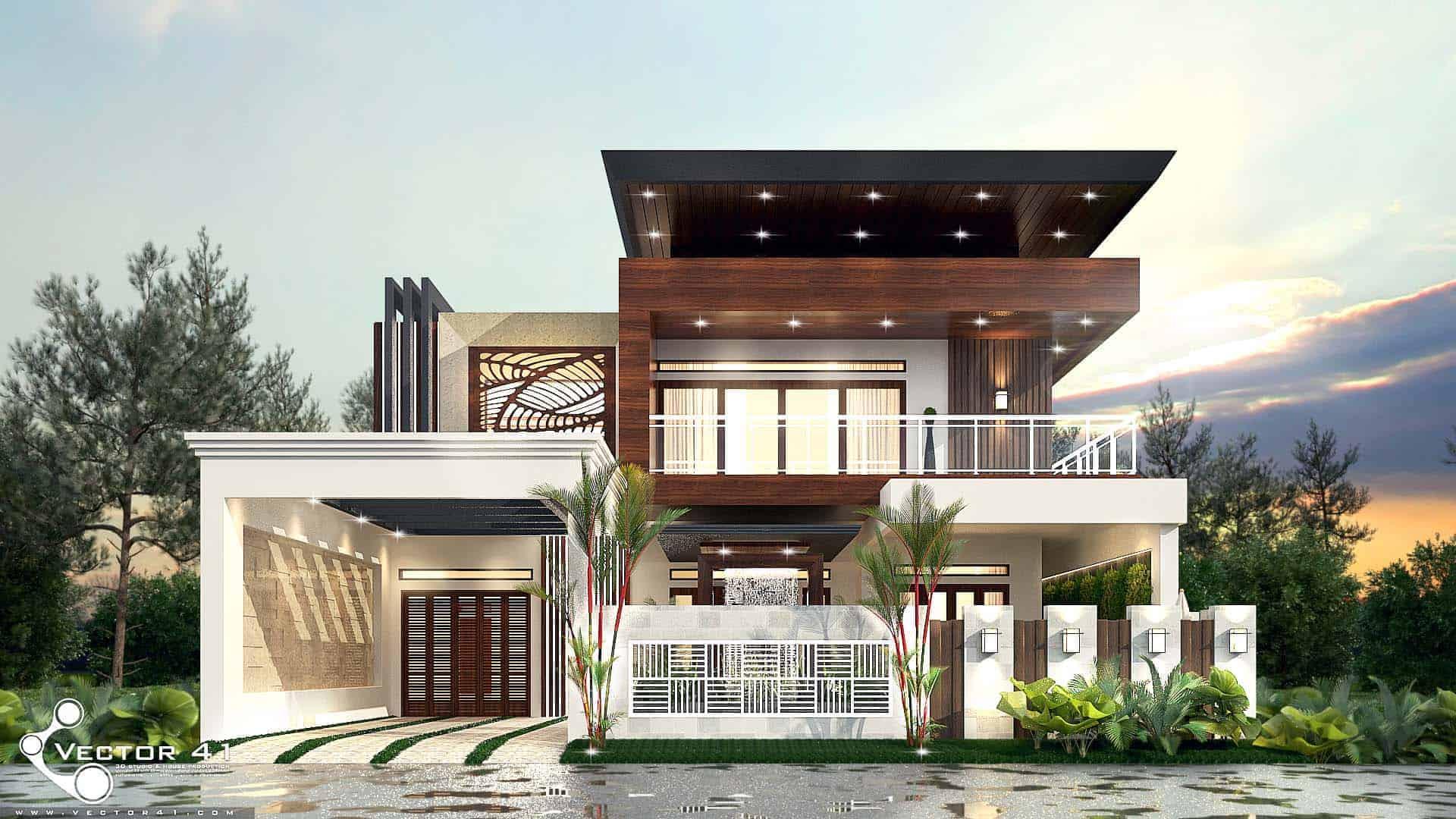 Desain Rumah Modern Minimalis Mrs Sari Dewi Medan