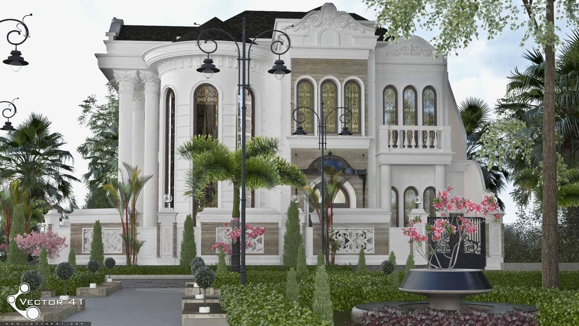 Desain Rumah Klasik Mr Arie Medan