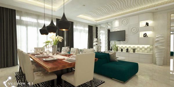 desain interior rumah tropis bpk zulfan Aceh