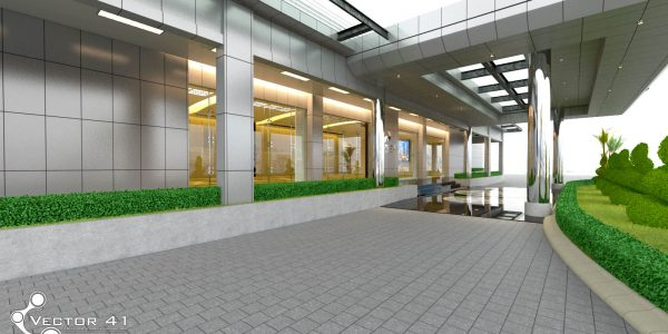 desain interior gedung serbaguna pertamina medan