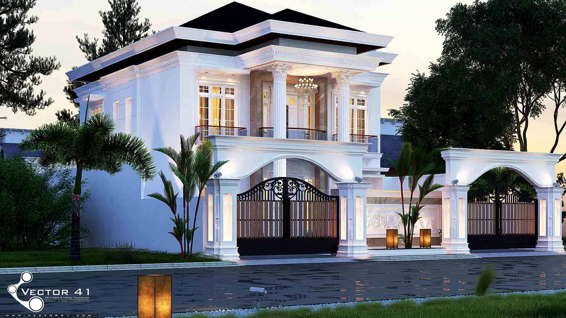 Desain Rumah Klasik Mr Azhari Aceh