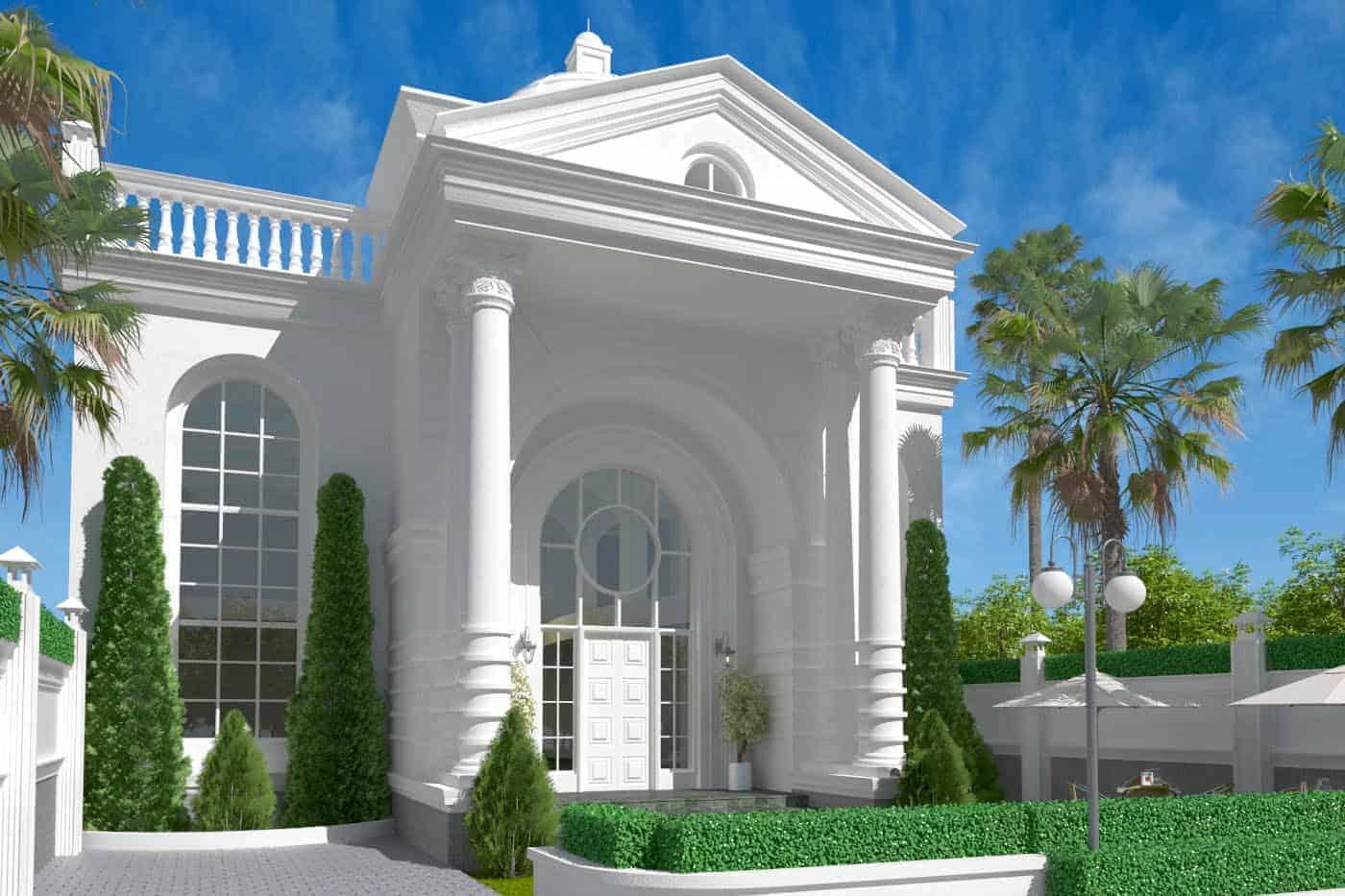 Desain Rumah Klasik Mr. Ruslim - Medan   VECTOR 41 ARSITEK