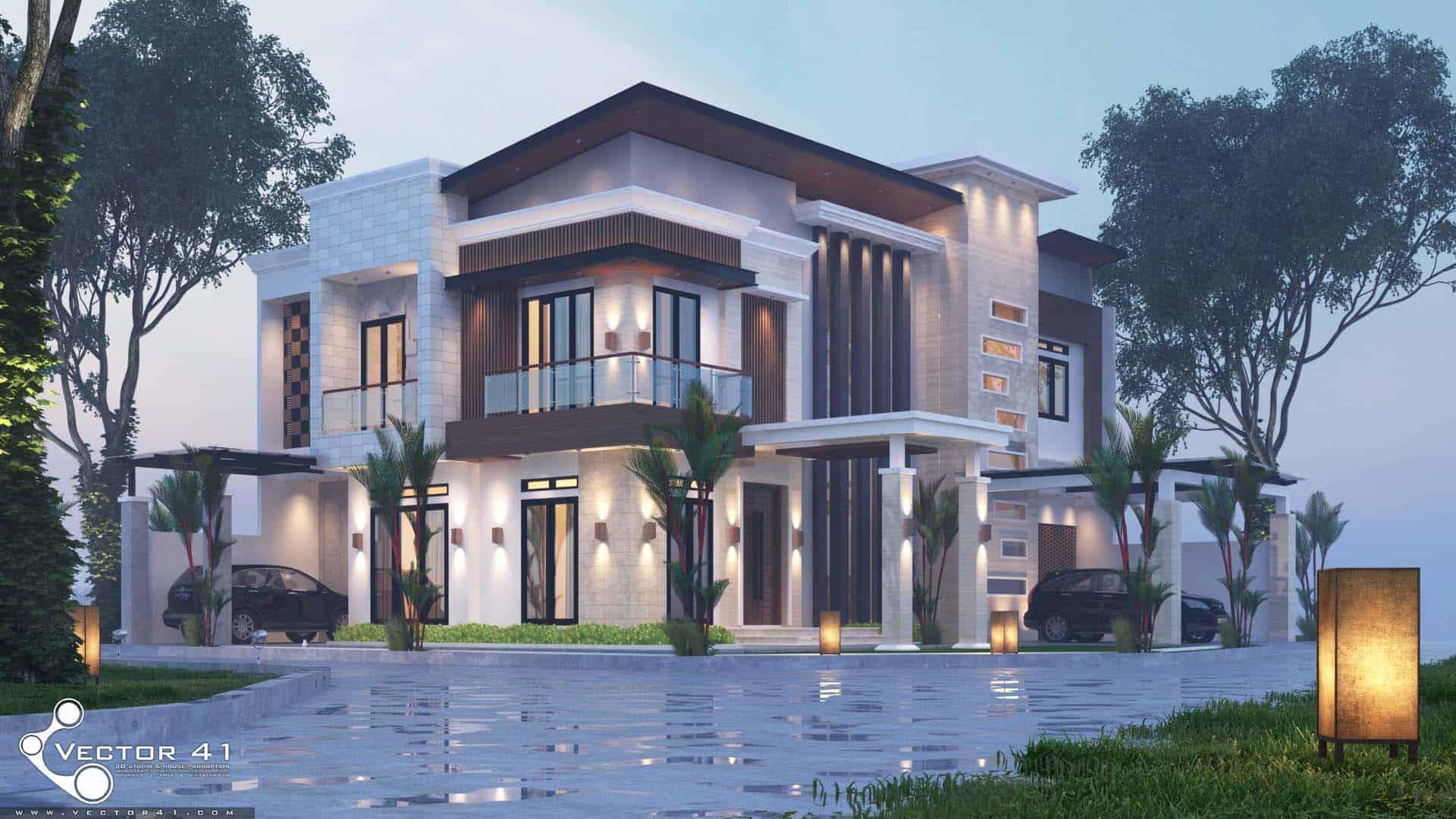 Desain Rumah Tropis Tropical House