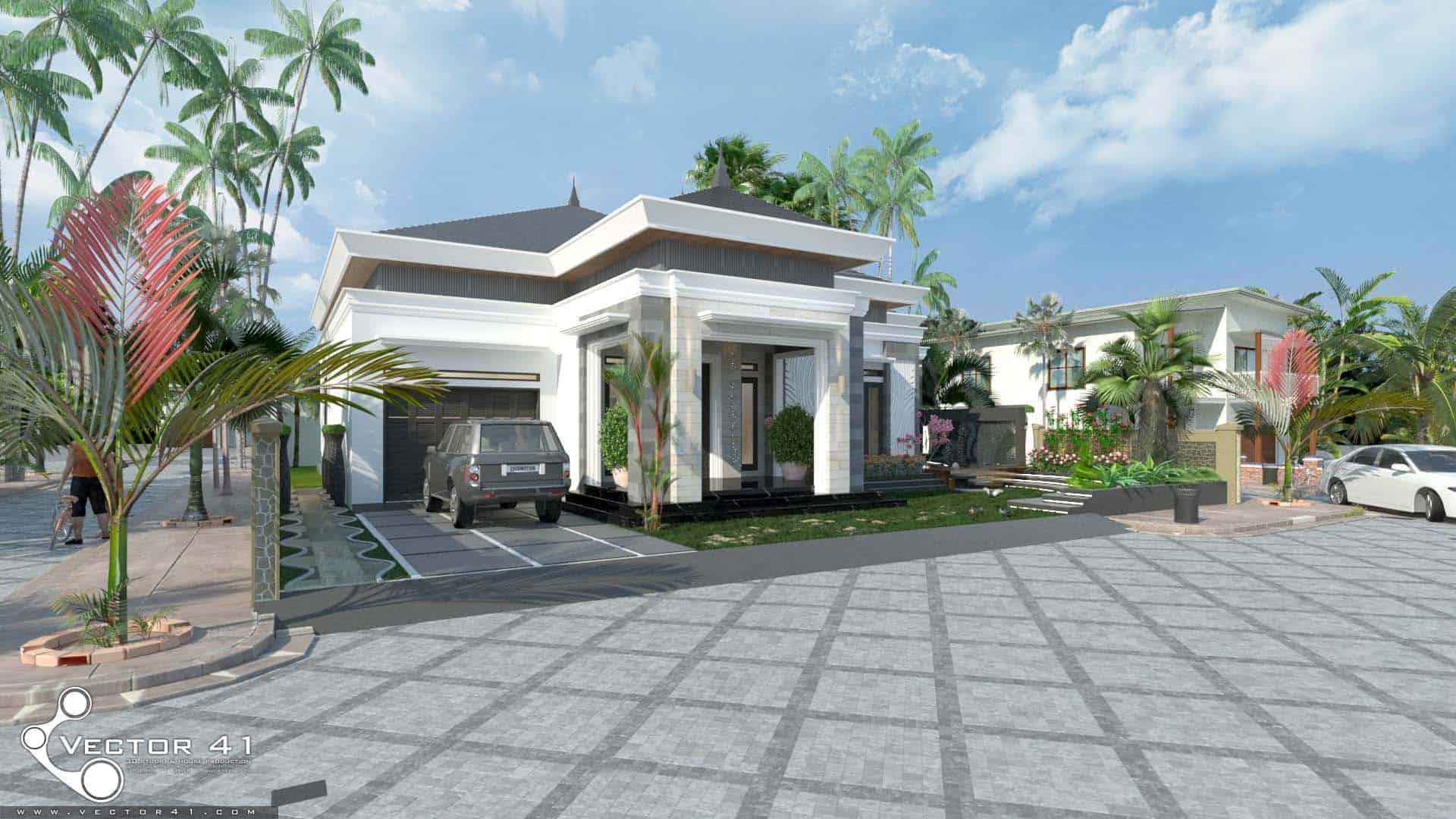 Desain Rumah Minimalis Mr Agus Medan