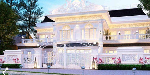 Desain rumah klasik mr. dicky - Medan