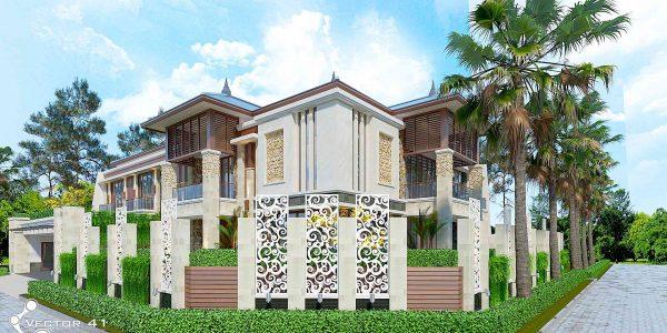 Desain rumah tropis Mrs. Bella - Medan