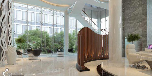 desain interior receptionis pt mark dynamics