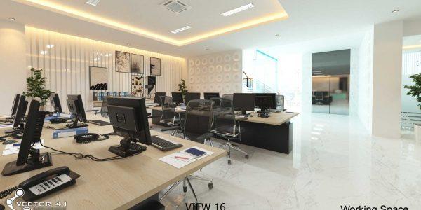 desain interior ruang kerja pt mark dynamics