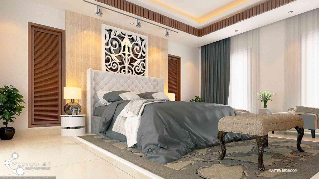 desain interior tempat tidur bapak bambang palembang
