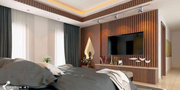 desain interior kamar tidur bapak bambang palembang