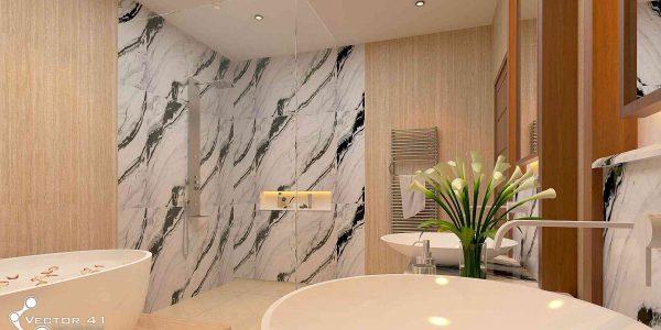 desain interior toilet bapak bambang palembang