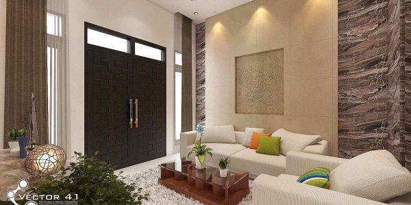 desain interior ruang tamu bapak budi medan