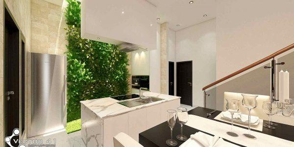 desain interior dapur bapak dicky medan