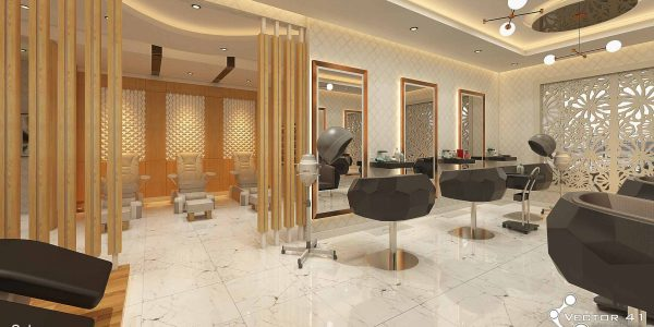 Desain interior salon wanita terbaru