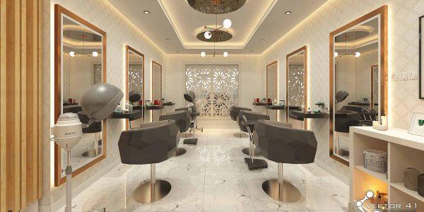 Desain interior tempat salon dan kecantikan di medan