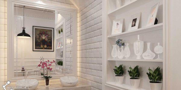 desain interior ruang cuci tangan cafe bapak bran medan