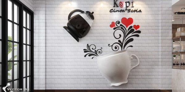 desain interior spot foto cafe bapak bran medan