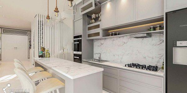 desain interior dapur ibu ayu medan