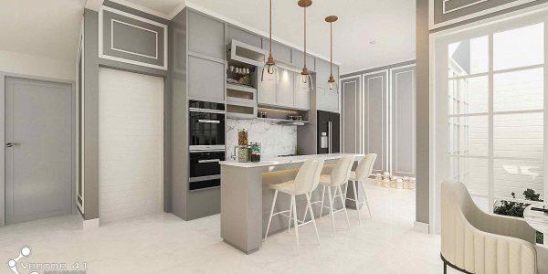 desain interior kitchenset ibu ayu medan
