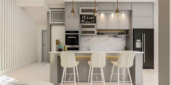 desain interior kitchen set ibu ayu medan