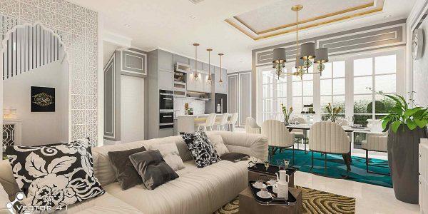desain interior ruang keluarga ruang makan ibu ayu medan