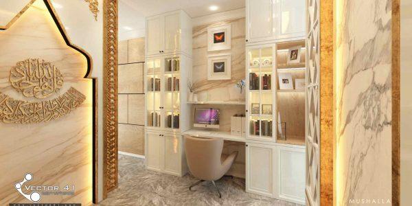 desain interior ruang kerja ibu atika medan