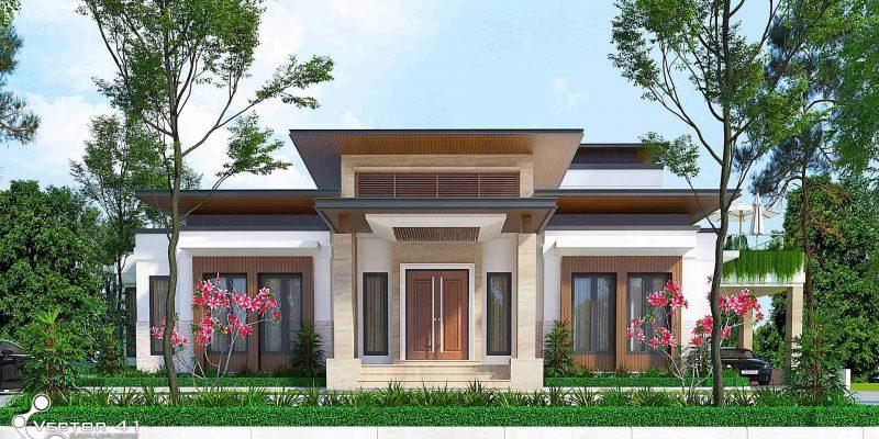 Desain Rumah Tropis Desain Rumah Tropis Terbaru Vector 41 Arsitek
