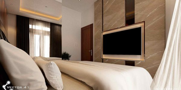 desain interior tempat tidur bapak zulkifli medan